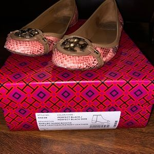 Two pairs of Tory Burch flats